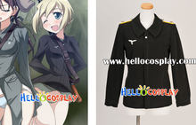 Strike Witches Erica Hartmann Cosplay Uniforme H008(China)