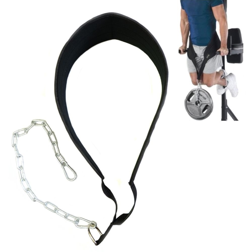 Fitness Weight Lifting Belt Justerbar Midje Styrketrening Bodybuilding Dipping Belt Gym Workout Trening Trekk Opp Chain Belt