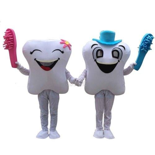 2018 nouveau sourire dent dentiste mascotte Costume adulte fantaisie robe de soirée cadeau de noël