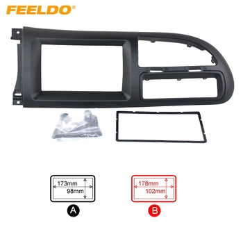 FEELDO Auto CD Radio Stereo Lateipaneel Frame Adapter Montage Kit Voor Ford Transit (2014) # AM1415