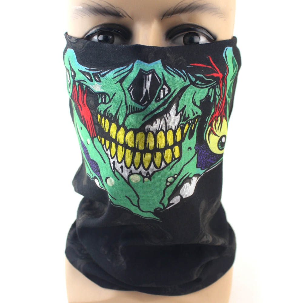 2017 Halloween Skull Skeleton Mask Motorcycle Bicycle Multi Function Scarf Half Face Masks Cap Neck Ghost Scarf Ski Mask outdoor halloween skull skeleton adult kids motorcycle headwear hat scarf half face mask cap neck ghost scarf