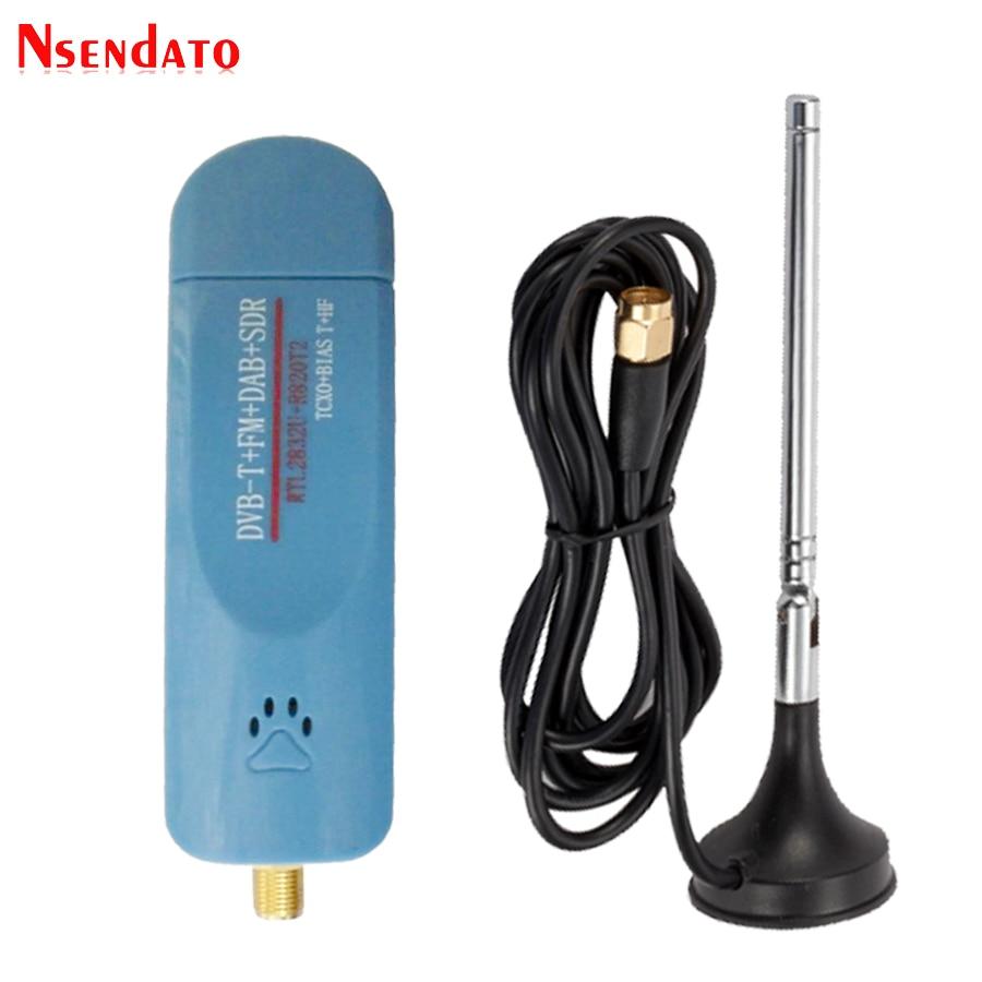 Digital USB 2.0 RTL-SDR Smart DVB-T TV Stick SDR+DVB-T+DAB+FM RTL2832U R820T2 500KHz-1.7GHz SDR TV Tuner Receiver With Antenna