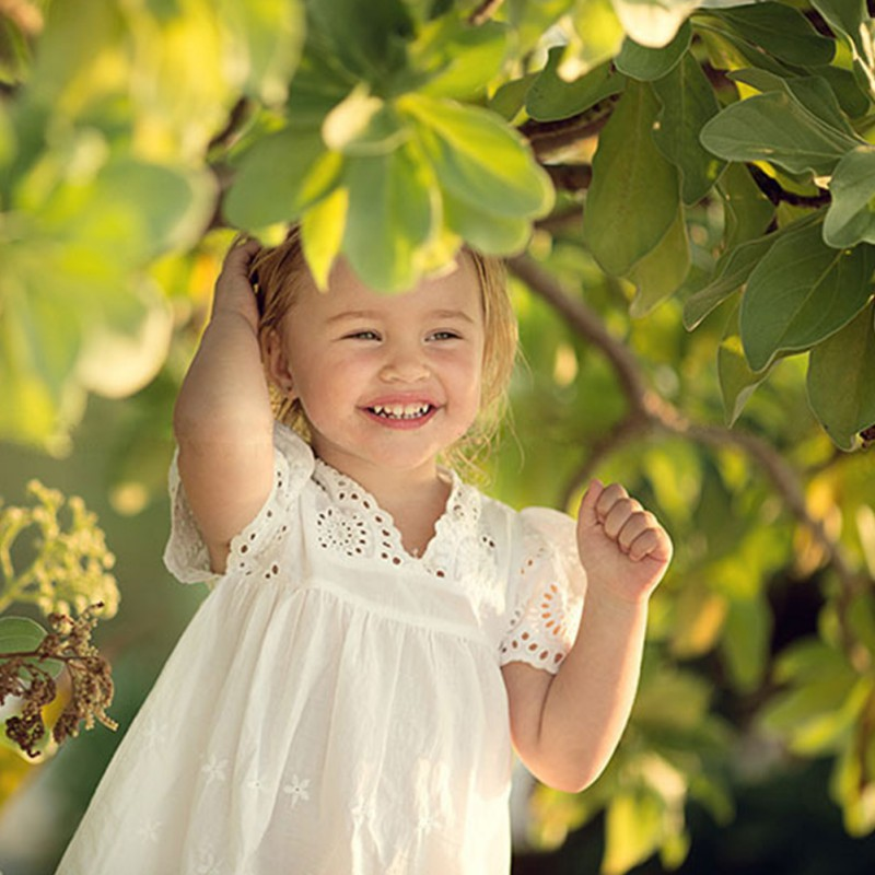Summer Kids Children Embroidered Clothes White Lace Exquisite Princess Dress Cotton Lace Girl Dresses