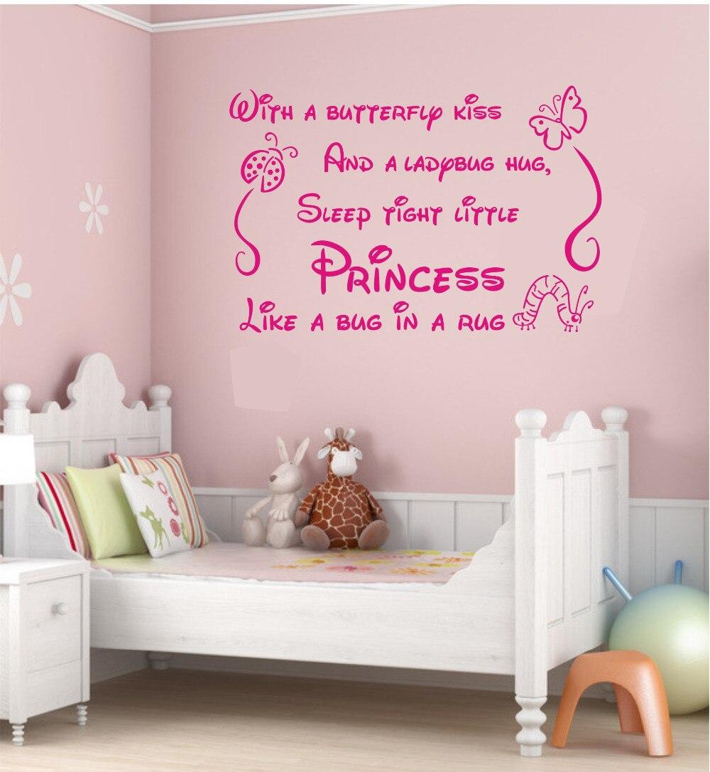 Renkli oturma gruplari 5 quotes - Wall Sticker Quotes Butterfly Kiss Ladybug Hug Quote Art Wall Stickers Vinyl Decal Baby Room Decor