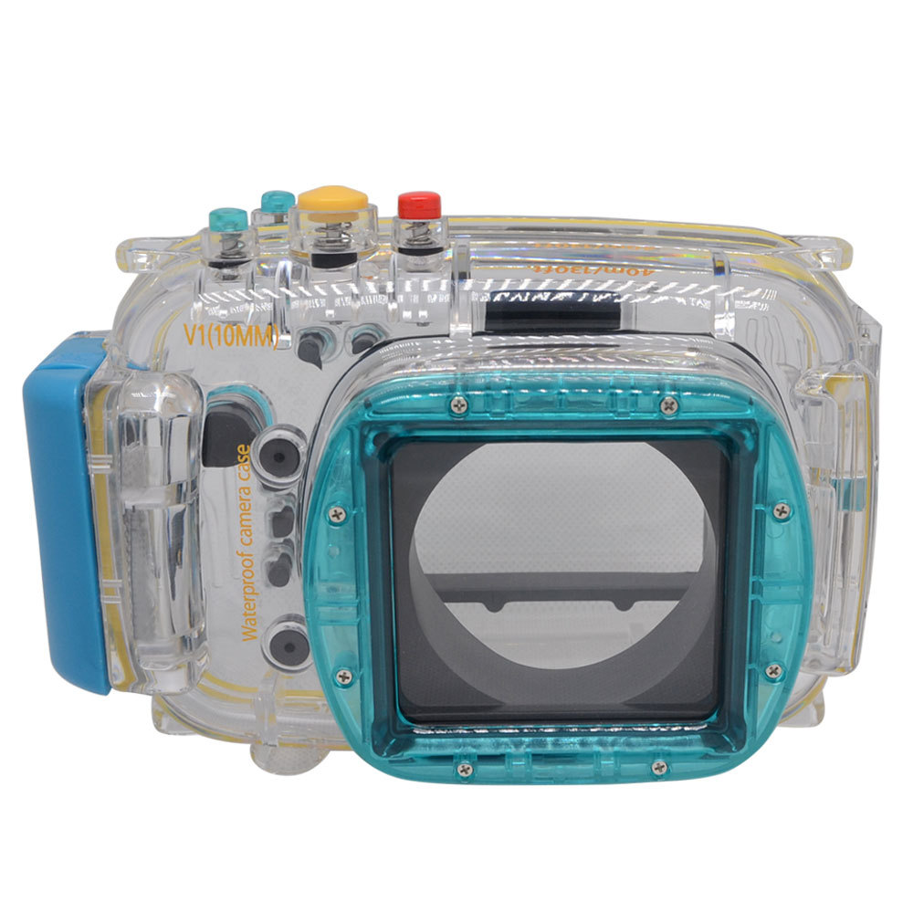 Mcoplus 40m/130ft Waterproof Underwater Housing Diving Camera Case Bag for Nikon V1 10mm Lens