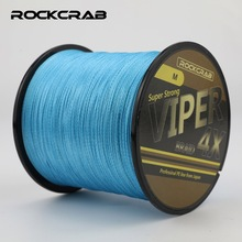 RockCrab Model Viper X4 Collection 500M 547Yards Four Strands 8-66LB 100% PE Line Braided Fishing Line Multifilament Fishing Line