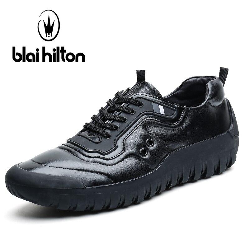 Blai Хилтон Роскошные из натуральной кожи Толстая подошва Мужская обувь в стиле пэчворк с низким верхом повседневные мужские туфли Дизайнер ...
