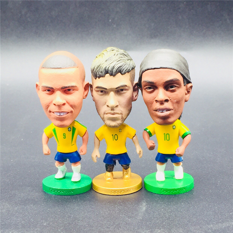 8pcs Soccerwe 6.5 cm Height PVC Cartoon Dolls Ronaldo Pepe Griezmann Pogba Figurines with Show Box for Collections Children Gift-in Dolls from Toys & Hobbies    3