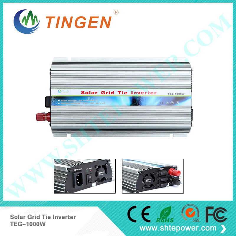 Grid Tie 1000W Pure Sine Wave Solar Inverter for PV Power 1200W, DC10.5V~28V, AC 90V-130V/190V~260V, 50Hz or 60Hz, Free shipping 1000w on grid tie power inverter ac 22v 60v to ac 190v 260v with dump load controller for 3 phase wind turbine