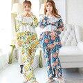 Грудное Вскармливание уход набор лето Материнства хлопок Одежда для Беременных Гостиная Сна лактации одежда для кормления пижамы