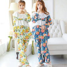 Breastfeeding Nursing set summer Maternity cotton Clothes for Pregnant Women Sleep Lounge lactation clothing feeding pajamas