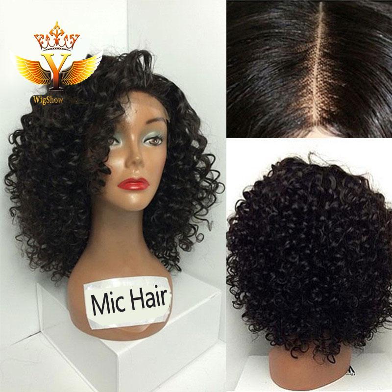 Cheap Afro Kinky Curly Full Lace Wigs Virgin Brazilian