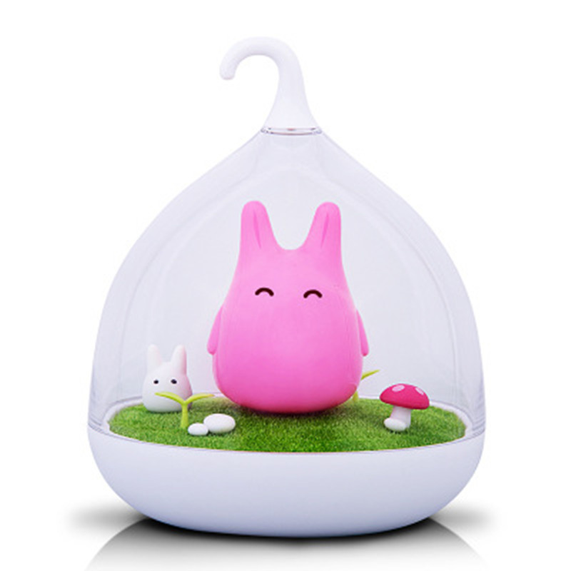 Night Light Style Totoro birdcage USB Portable LED Nightlight Lamp For Gift Touch Sensor for baby Bedside Lamp