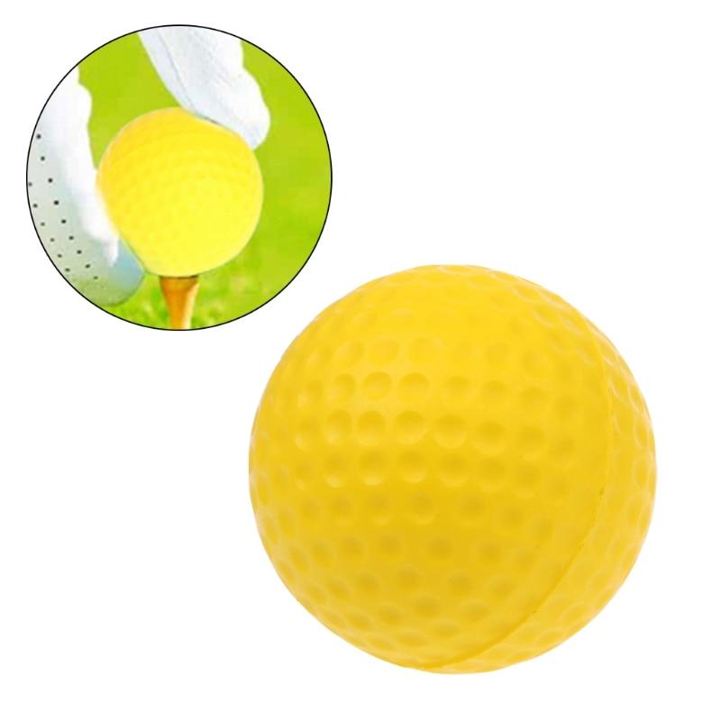 1 шт желтой пены мяч для гольфа Гольф Обучение мягкие пенные шарики мяч Практика