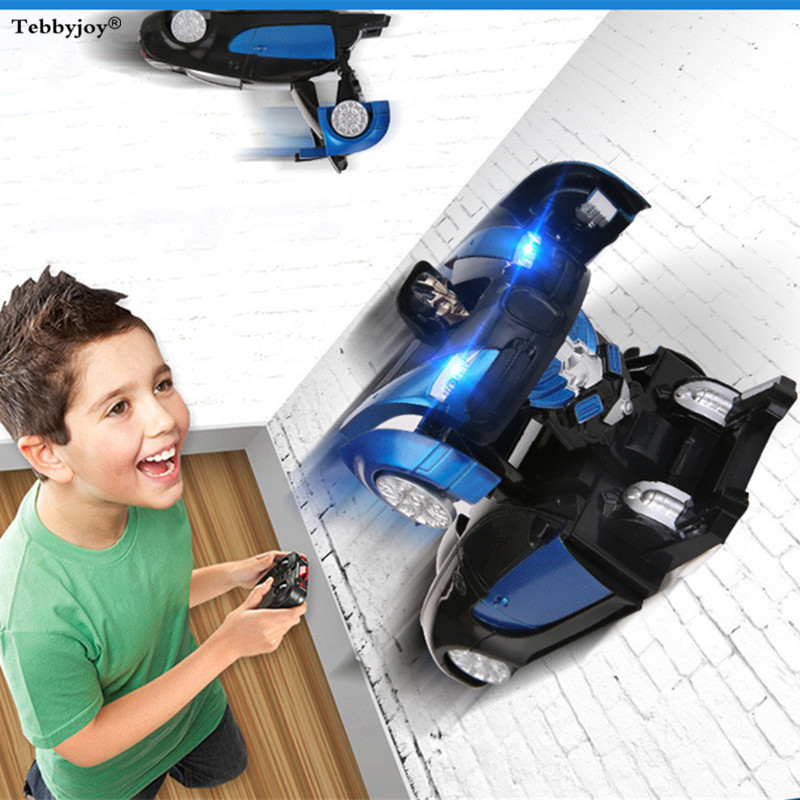 RC Wall Climbing Climber Deformation Car Remote Control Racing Floor Toy transforms Car truck for kids gift birthday present