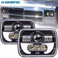 7inch Pair 5x7 Auto DRL Led Headlamp 5x7 Inch Led Truck Headlight 7inch High Low Beam