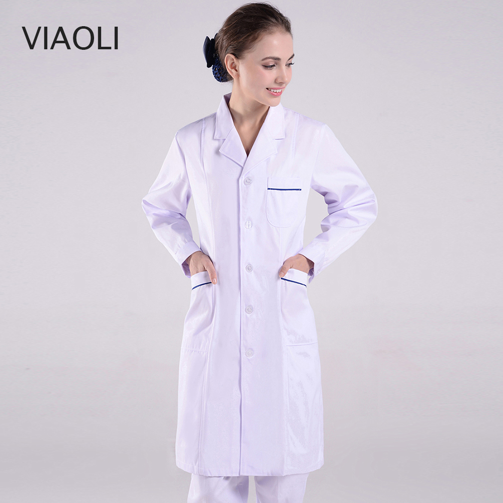 New Nurse Uniform Women Medical Clothing Summer Hospital Doctor Clothes Pharmacy Lab Coat Work Wear Medical  White Coats Cotton