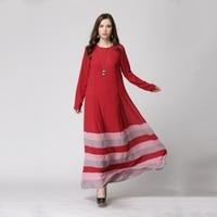 Novo mulheres Chiffon Sheer Wear islâmico Abaya Hijab Jilbab muçulmano arco-íris vestido PY3