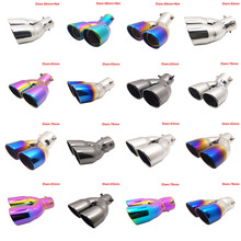 hot deal buy exhause pipes stainless steel modified car rear tail throat exhaust tips systems mufflers for audi a4l turning car universal