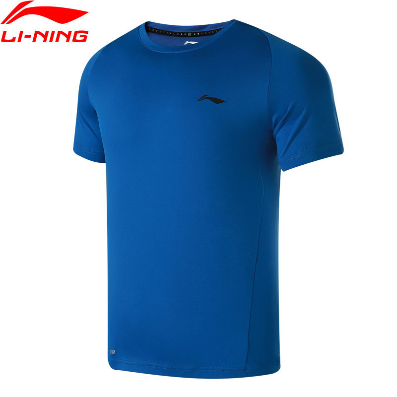 Li-Ning Men Training T-Shirt Short Sleeves Breathable Comfort Regular Fit Polyester LiNing Sports T-shirts Tops ATSN081 MTS2787 santa dxman short sleeves t shirt for men