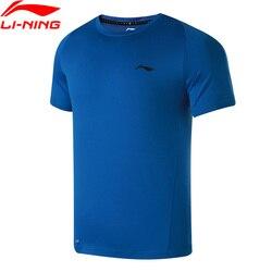 Li-Ning Men Training T-Shirt Short Sleeves Breathable Comfort Regular Fit Polyester LiNing Sports T-shirts Tops ATSN081 MTS2787