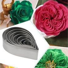 7 шт./компл. Высокое качество 304 из нержавеющей стали лепесток розы формочка для печенья Форма для выпечки печенья-50