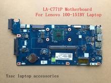 Ücretsiz kargo yeni LA C771P anakart için Lenovo 100 15IBY B50 10 için laptop anakart N2840 CPU kullanımı ddr3l düşük voltaj bellek