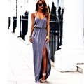 Hot Sexy Women Backless Summer Boho Sleeveless V Neck Long Maxi Dress Beach Sundress X09