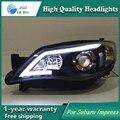 Auto Clud Estilo Lâmpada de Cabeça LED para Subaru Impreza WRX STI sinal led drl levou faróis hid Bi-Xenon Lente baixo feixe