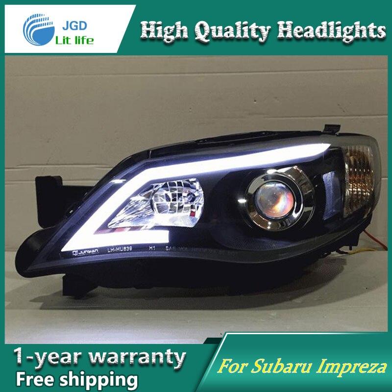 Feu de LED de Style Clud automatique pour Subaru Impreza WRX STI phares de LED LED de signal drl hid faisceau de croisement de lentille bi-xénon