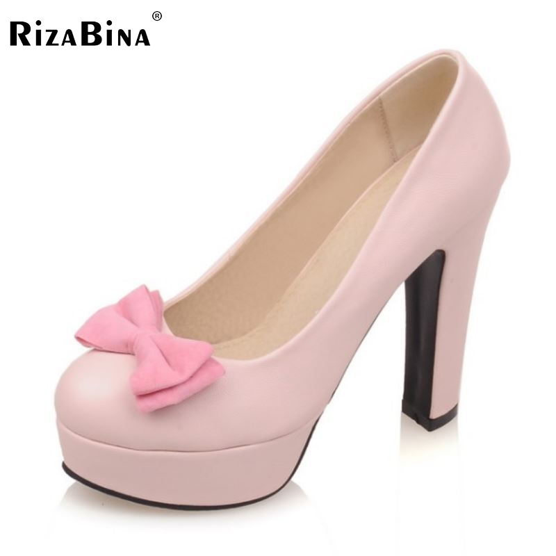 Women Platform High Heel Shoes Fashion Sexy Thin Heels Pumps Ladies Party Brand Wedding Shoes Heeled Footwear Size 33-43 K00606 hot sale brand ladies pumps sexy women high heels platform sexy women high heel pumps wedding shoes free shipping 2888 1