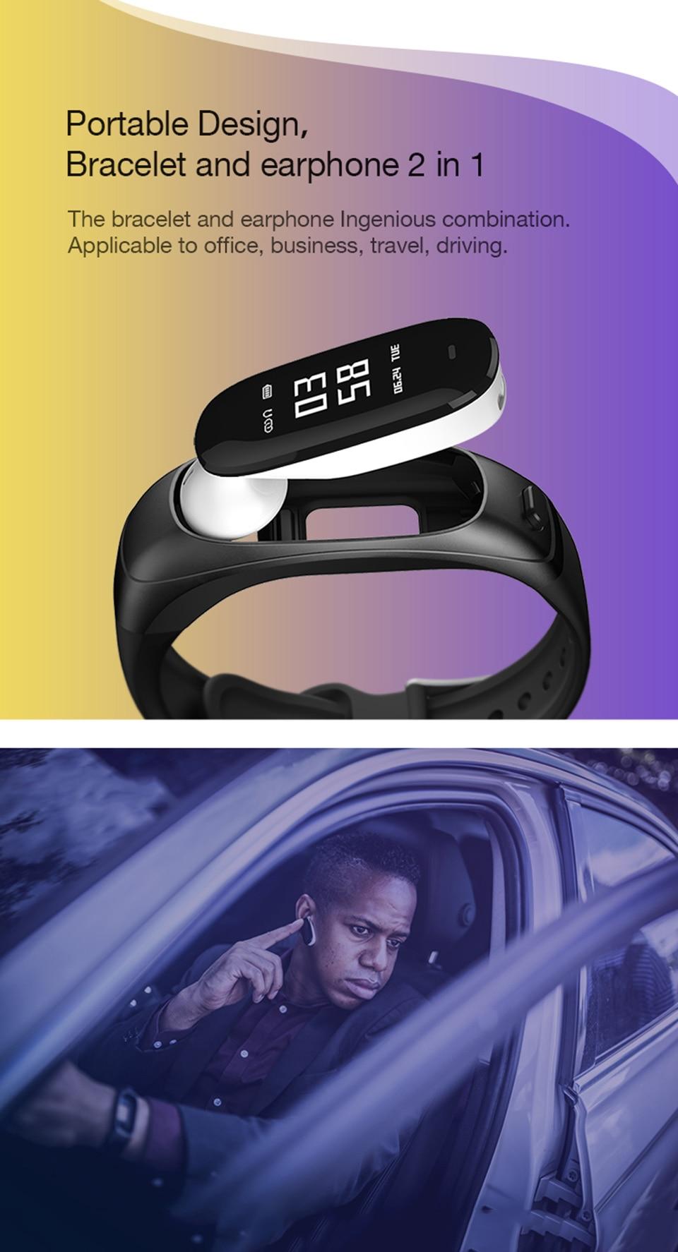 fitness com negócios bluetooth pulseira inteligente monitor