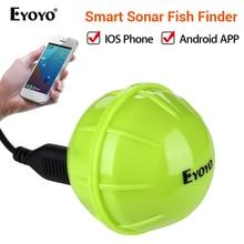 Eyoyo E1 Wireless Fish Finder Portable Sonar Sensor Echo Sounder Bluetooth Depth Sea Lake Detect Device iOS Android