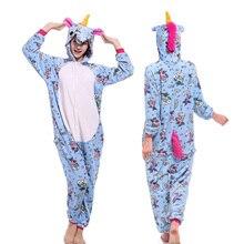 New Flannel Women Pajamas Animal Unicorn Panda Totoro Pegasus Pijamas Cartoon Cosplay Winter Comfortable Adult Sleepwear Onesies