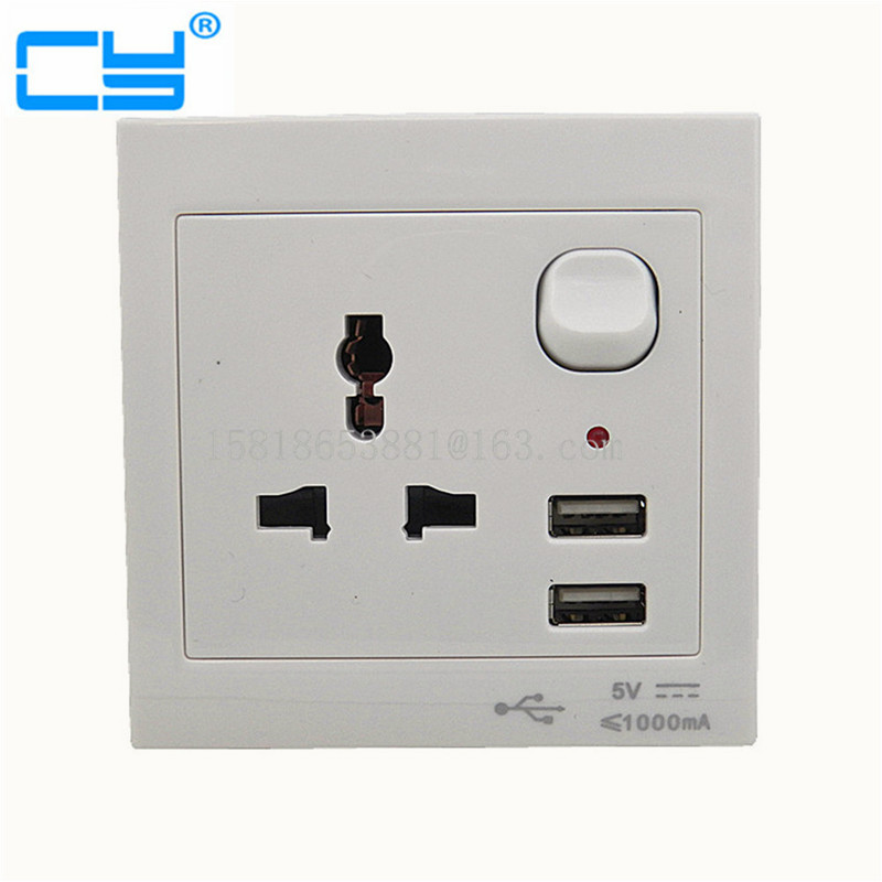 Home EU US AU UK Universal Wall Face Plate Outlet Panel Powupply Socket Charging Plug Switch Charger w/ 2 USB Port 100pcs lots universal travel plug power outlet socket adapter converter us uk au europe with dual usb charger port by dhl ups