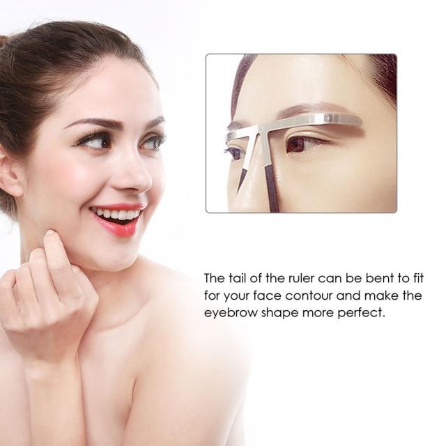 Microblading Tattoo Permanent Eyebrow Makeup Ruler 4 Colors Golden Ratio Symmetrical Ruler Reusable Stencil Grooming Measuring