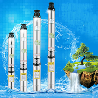 18m cable 4 inch submersible water pump 55m mini micro submersible water pump multistage submersible water pump pond