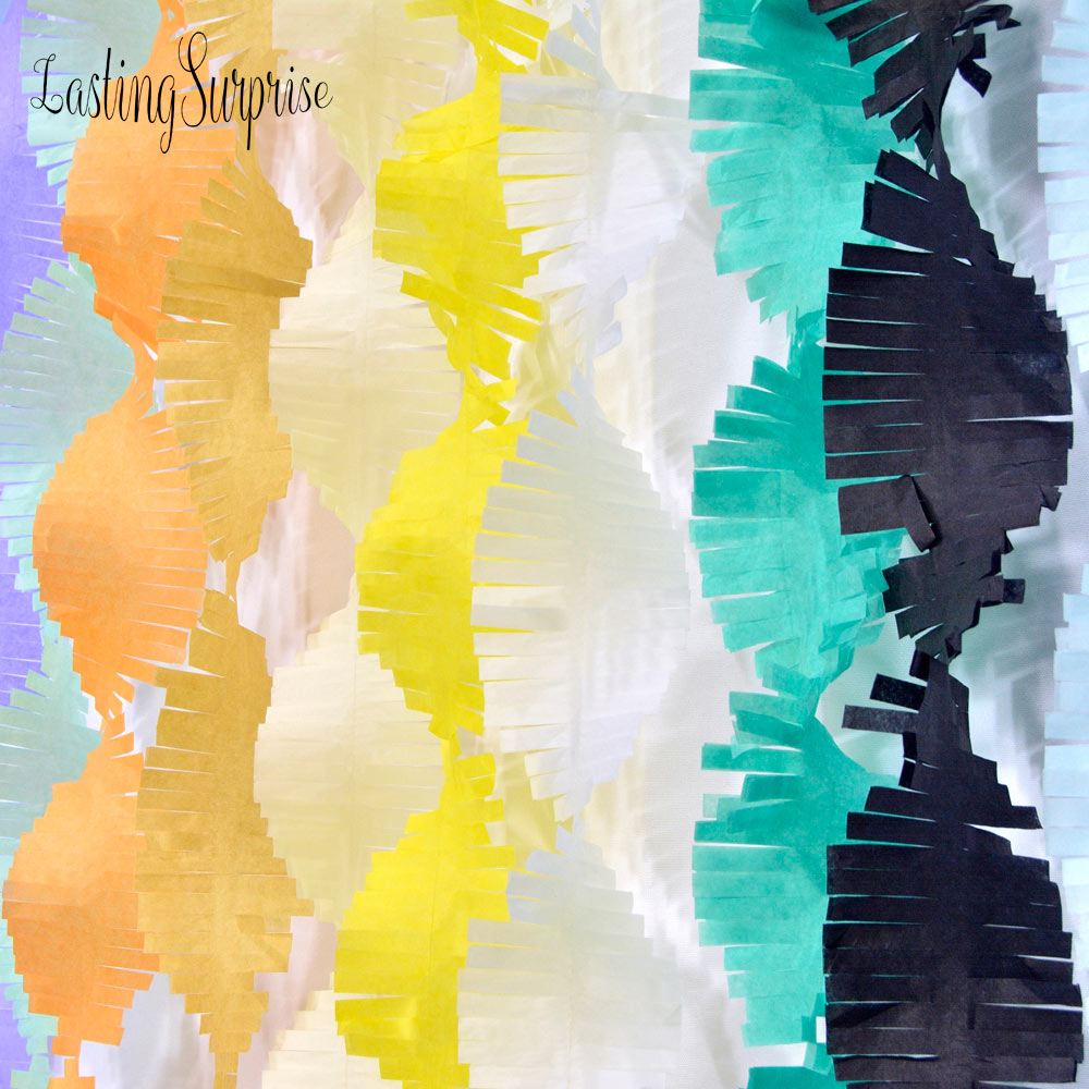 3M Paper Garland Party Streamers Tissue Fringe DIY Tassel Curtain Banner Photo Backdrop Wedding