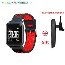 Gorilla Glass Tela OLED Smartwatch SN60 quente BORDA da Pressão Arterial de Oxigênio No Sangue Atividade Rastreador + X6 Livre IP68 À Prova D' Água Fone de Ouvido