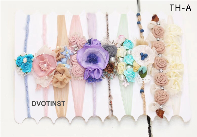 Dvotinst Newborn Baby Headband for Girls Photography Studio Props Headwear Headdress Fotografia Decoration Bebe Hair Accessories new arrival indoor outdoor large children s house game room children s toys 3 in 1 square crawl tunnel folding kid play tent
