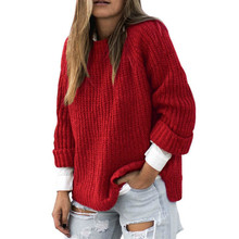 MUXU red fall fashion women sweaters and pullovers sweater long sleeve knitted pullover feminino winter tops for