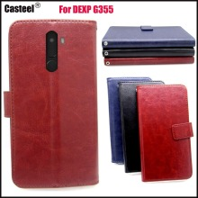 Casteel Classic Flight Series high quality PU skin leather case For DEXP G355 Case Cover Shield