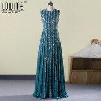 Real Image 2017 Fancy Long Glitter Prom Dresses Women Formal Dress With Stones Sequin Abendkleider Custom