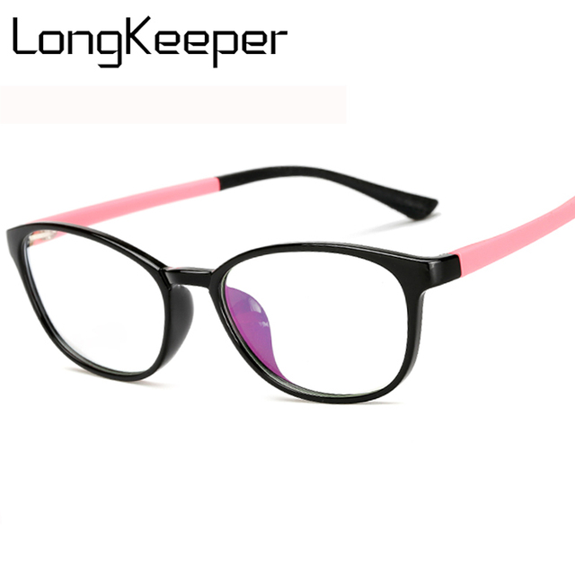 fb51a151152f LongKeeper Fashion Female Glasses TR 90 Eyewear Oval 2018 New Stylish  Optical Glasses Frame Women Eyeglasses Clear Lens AM11017