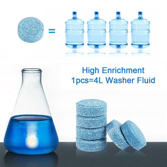 1PCS =4L Liplsating Car Windshield Cleaning Car Accessories Glass Cleaner Car Solid Wiper Fine Wiper Car Auto Window Cleaning 2