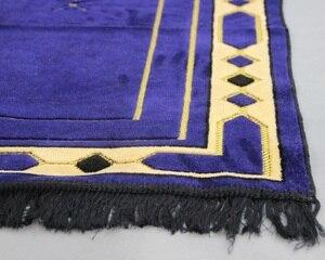 Image 5 - Thick Chenille Islamic Muslim Prayer Mat Blanket Salat Musallah Prayer Rug Tapis Tapete Banheiro Islamic Praying Carpet 70*110cm