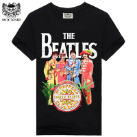 Rocksir THE BEATLES LONELY HEARTS 2017 Design Men Tshirt High Quality Short Sleeve Shirt Fashion Casual