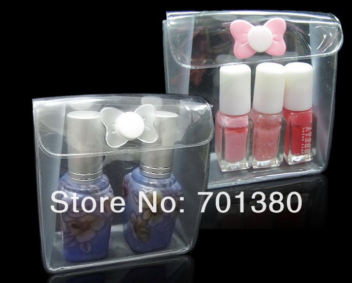 small size:8*3*8cm clear pvc cosmetic bag Travel Makeup bags Sample cosmeticscraftgift packing. 300piecelot Free shipping