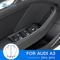 Airspeed for Audi A3 Accessories 8V 8P Audi A3 Sticker for Audi A3 Carbon Fiber Interior Trim Door Window Button Frame Stickers