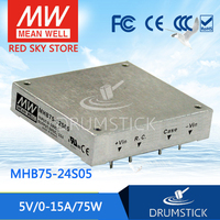 MEAN WELL MHB75 24S05 5V 15A meanwell MHB75 5V 75W DC DC Half Brick Regulated Single Output Converter